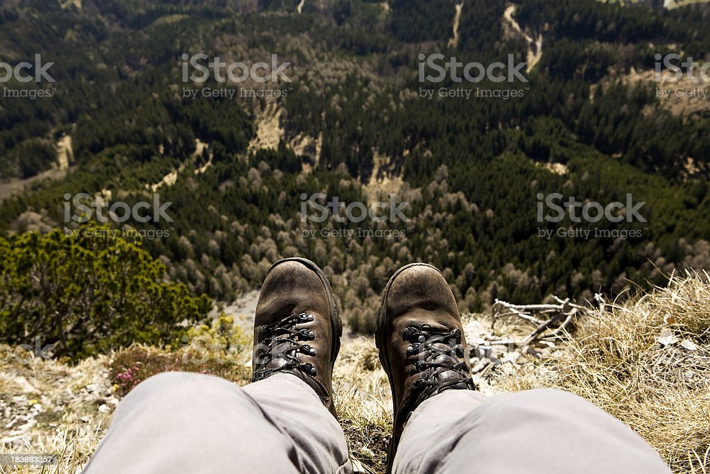 Sitting on top of the cliff royalty-free stock photo