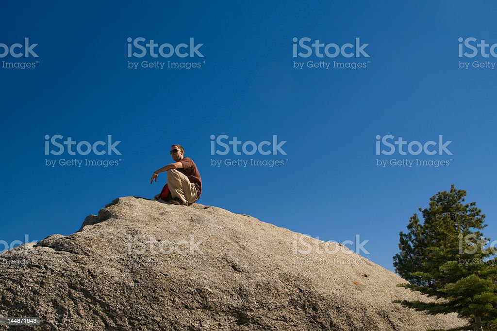 Sitting on Top of the World royalty-free stock photo