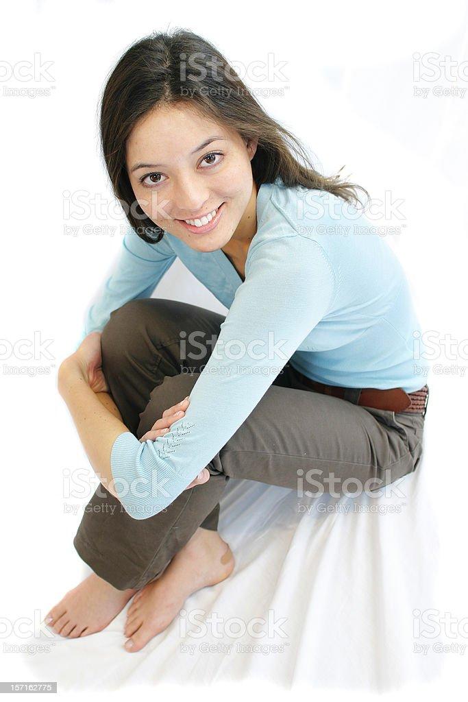 Sitting. royalty-free stock photo