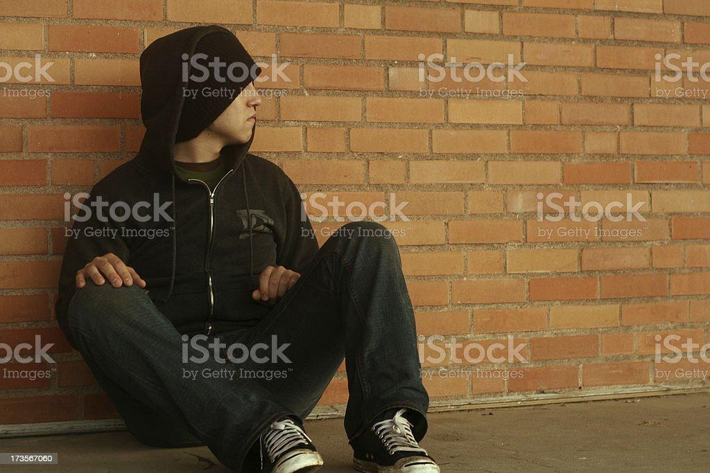 Sitting royalty-free stock photo