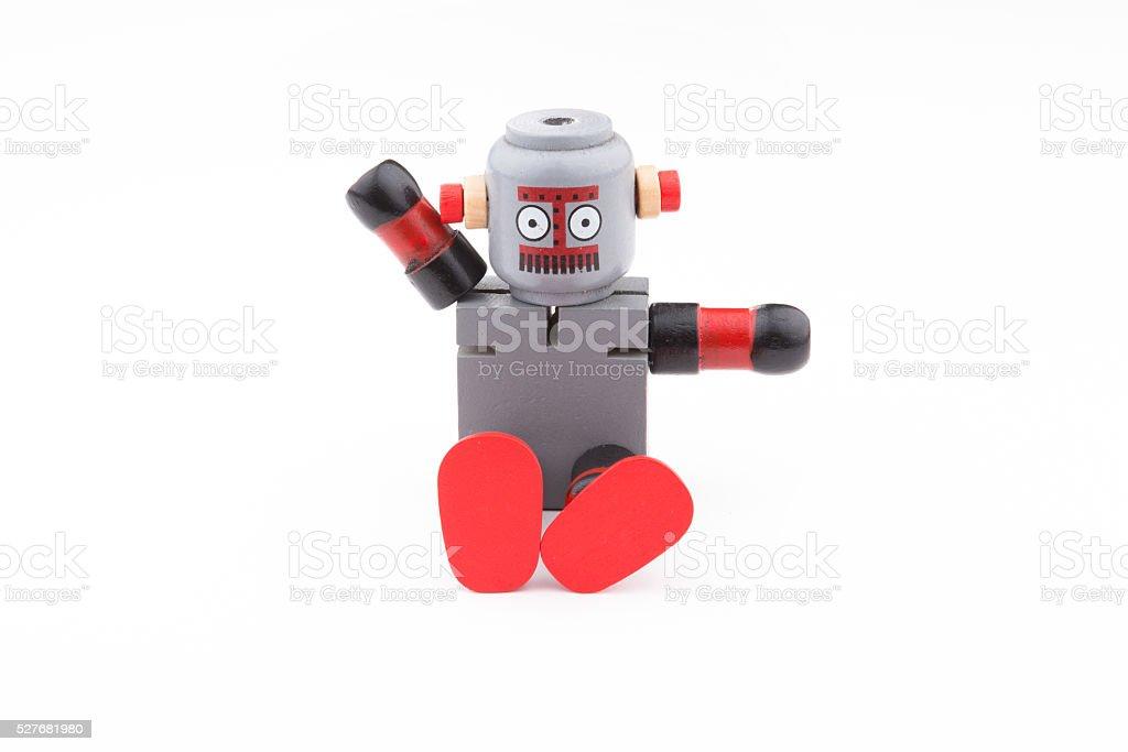 Sitting Robot stock photo