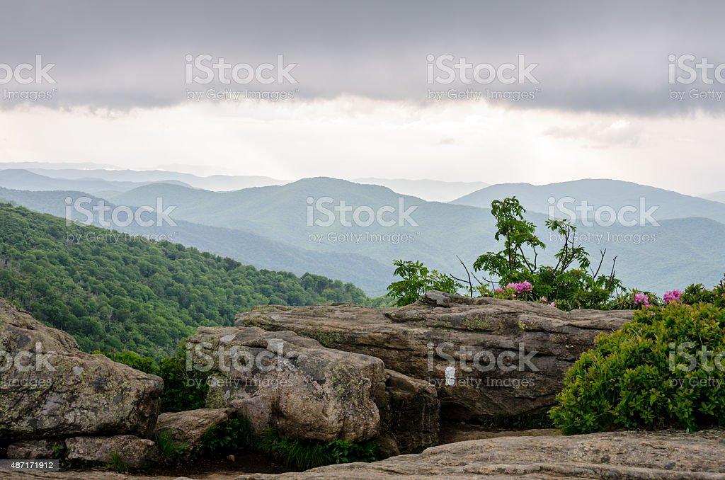 Sitting Rock on Jane Bald stock photo