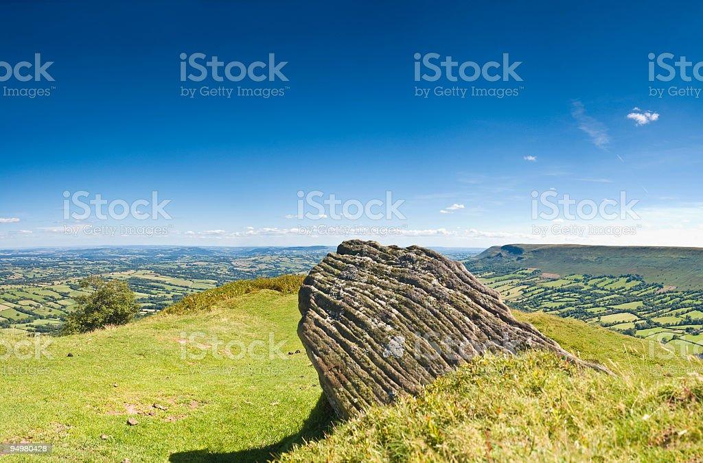Sitting rock royalty-free stock photo