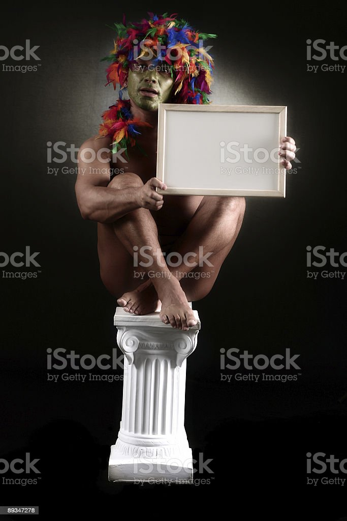 Sitting Shaman royalty-free stock photo