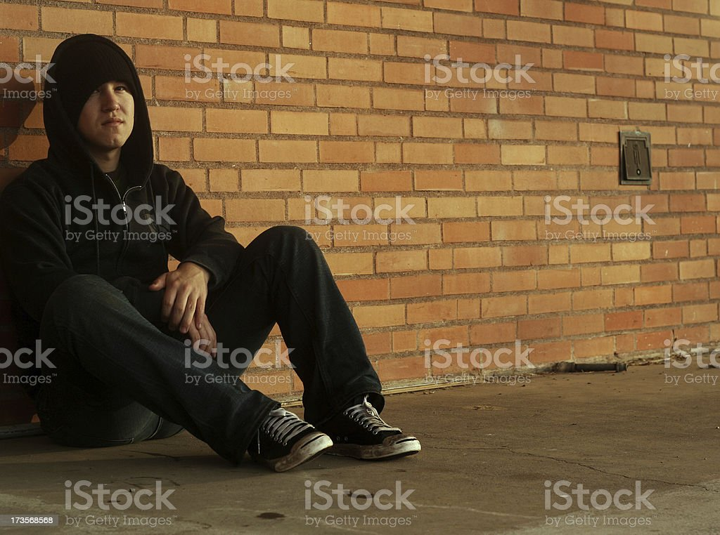 Sitting Wall royalty-free stock photo