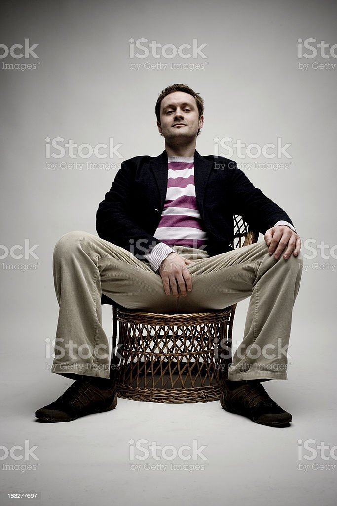 Sitting with Balls royalty-free stock photo