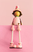 Sitting Wooden Toys, Gift Color Baby Dolls.