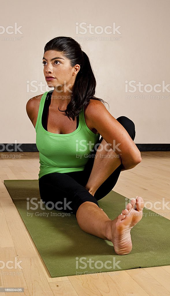 Sitting Yoga Pose stock photo