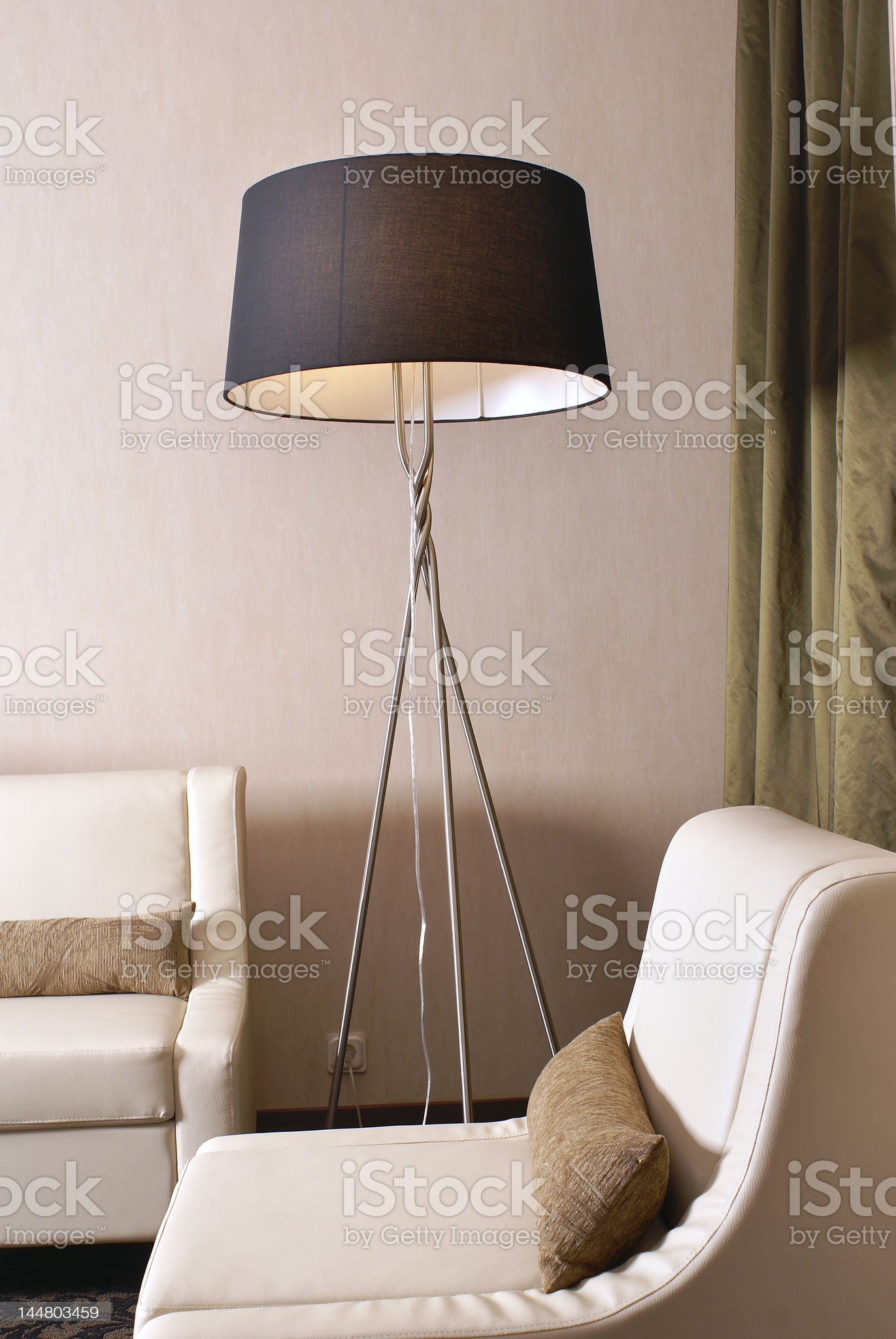 Sitting-room on modern hotel royalty-free stock photo