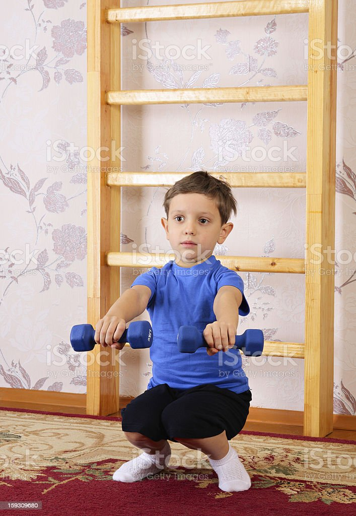 Sit-up royalty-free stock photo