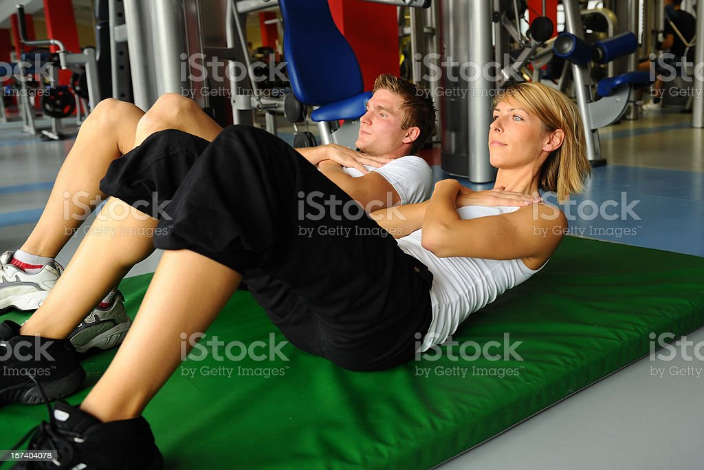 Sit-ups royalty-free stock photo