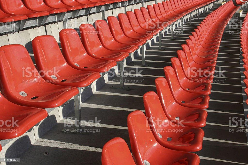 Sitzschalen in einem Fussballstadion royalty-free stock photo
