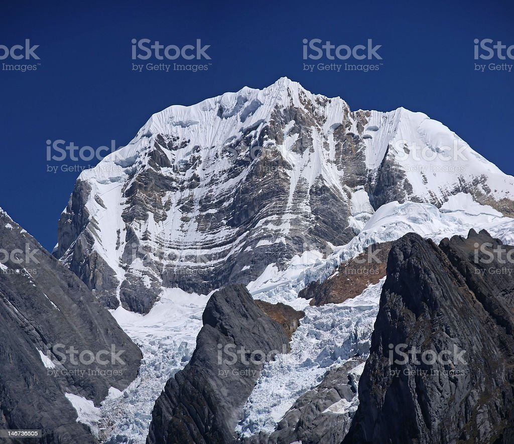 Siula\tmountain in high Andes stock photo