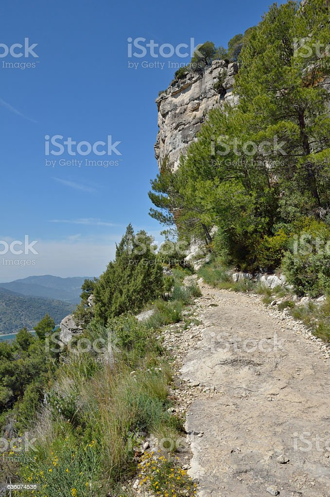Siurana cliffs in the Prades mountains stock photo