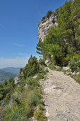 Siurana cliffs in the Prades mountains