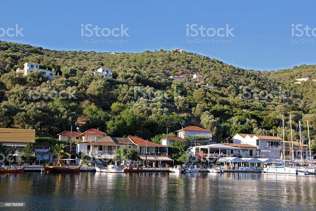 Sivota Port stock photo