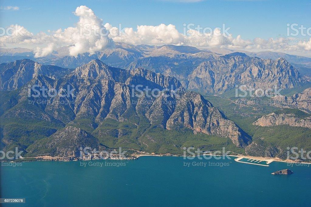 Sivri mountains west of Antalya stock photo