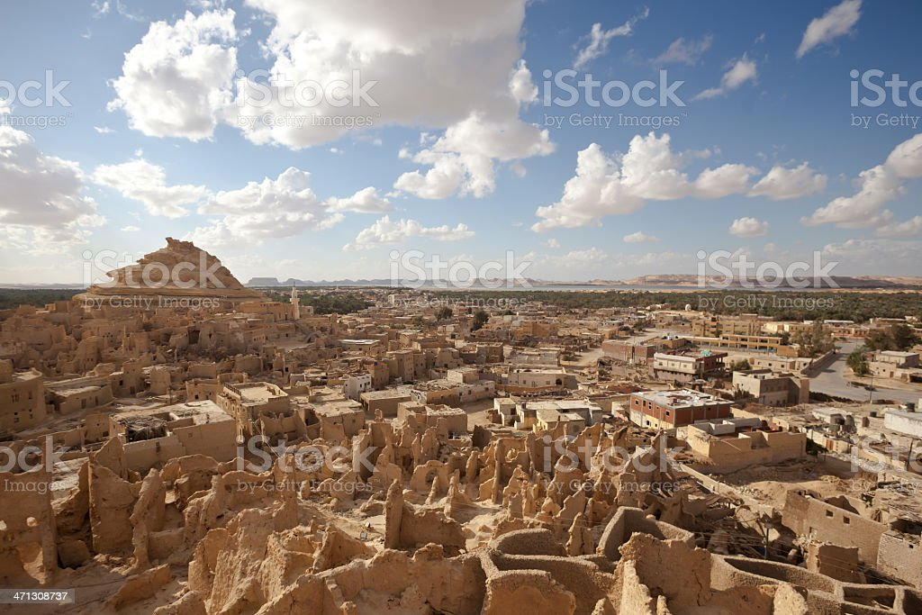 Siwa, the most western oasis in Egypt stock photo