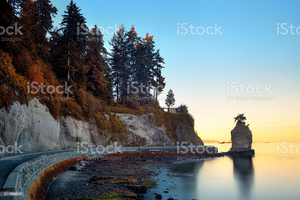 Siwash Rock stock photo