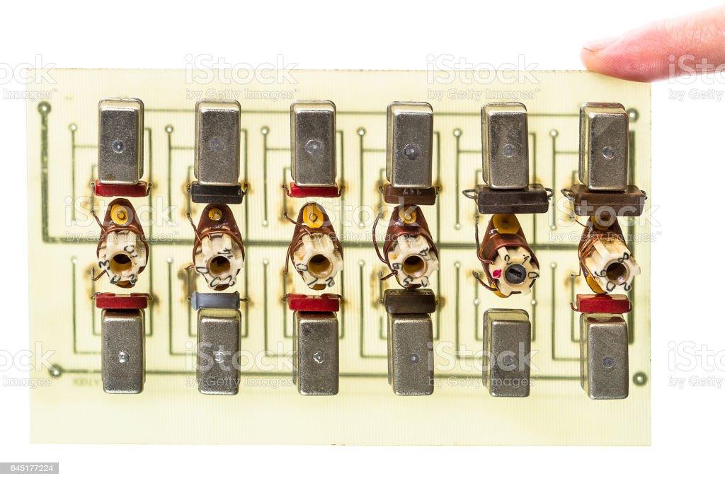 Six bandpass filters stock photo