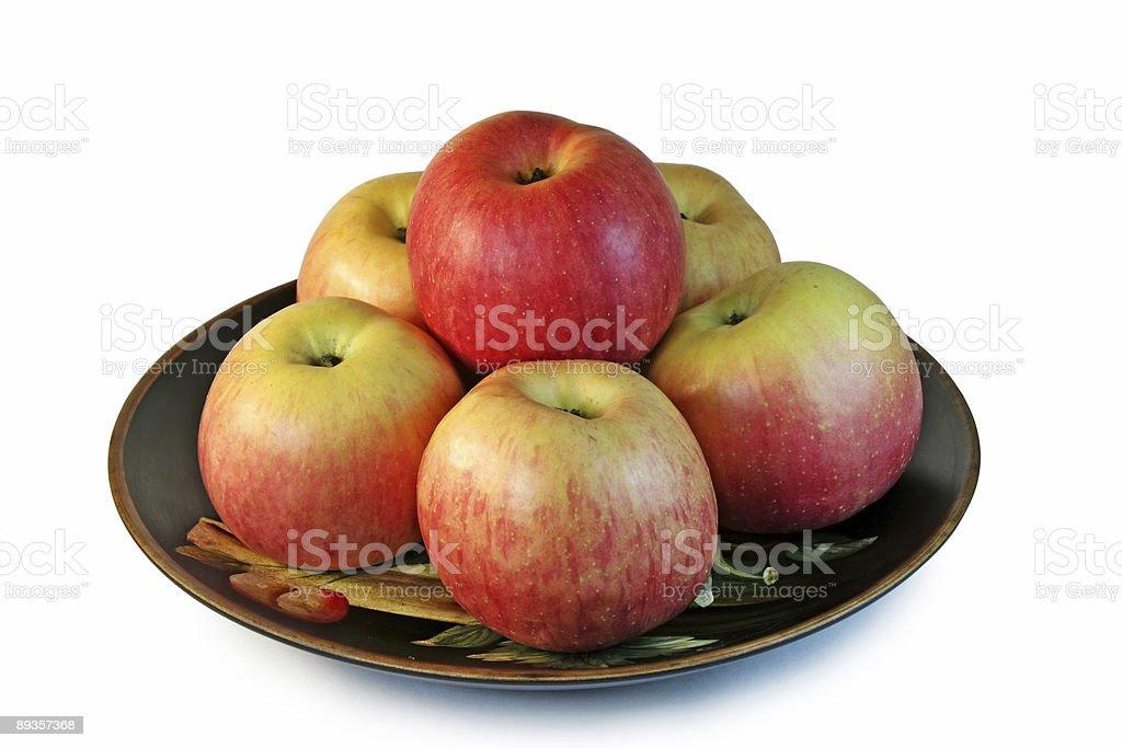 Six beautiful apples. royalty-free stock photo
