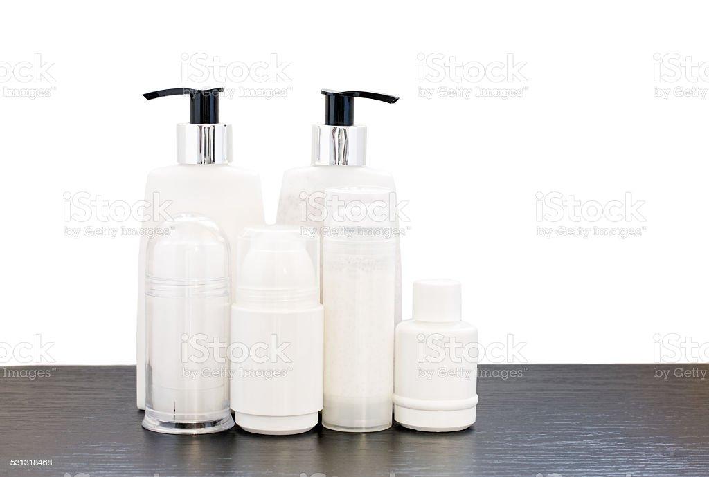 Six Beauty Products stock photo