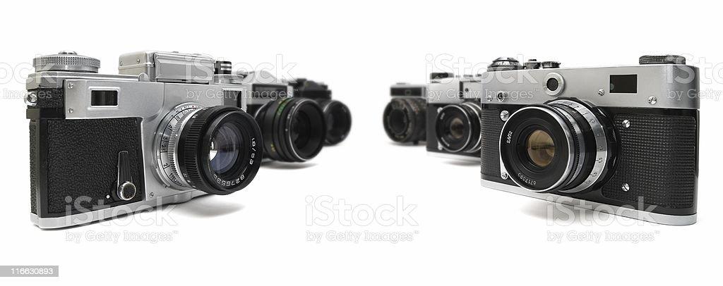 Six Cameras stock photo