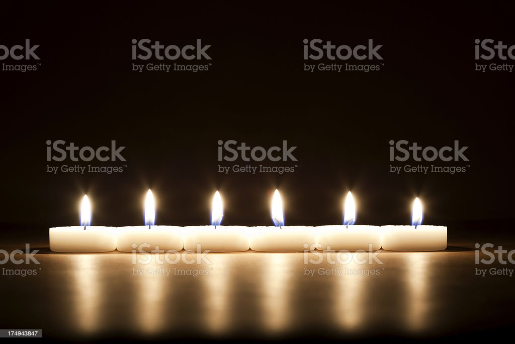 Six candles royalty-free stock photo