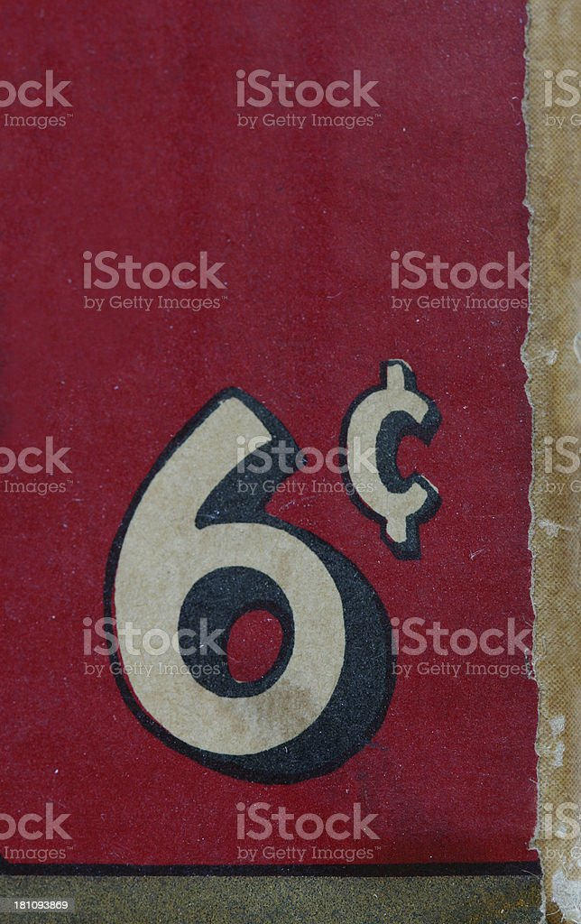 Six Cents royalty-free stock photo