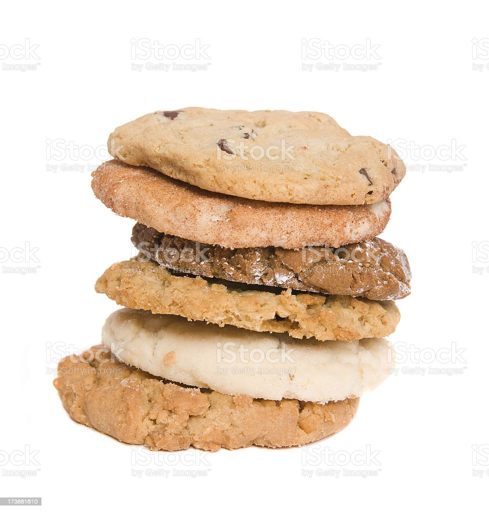 six cookies stock photo