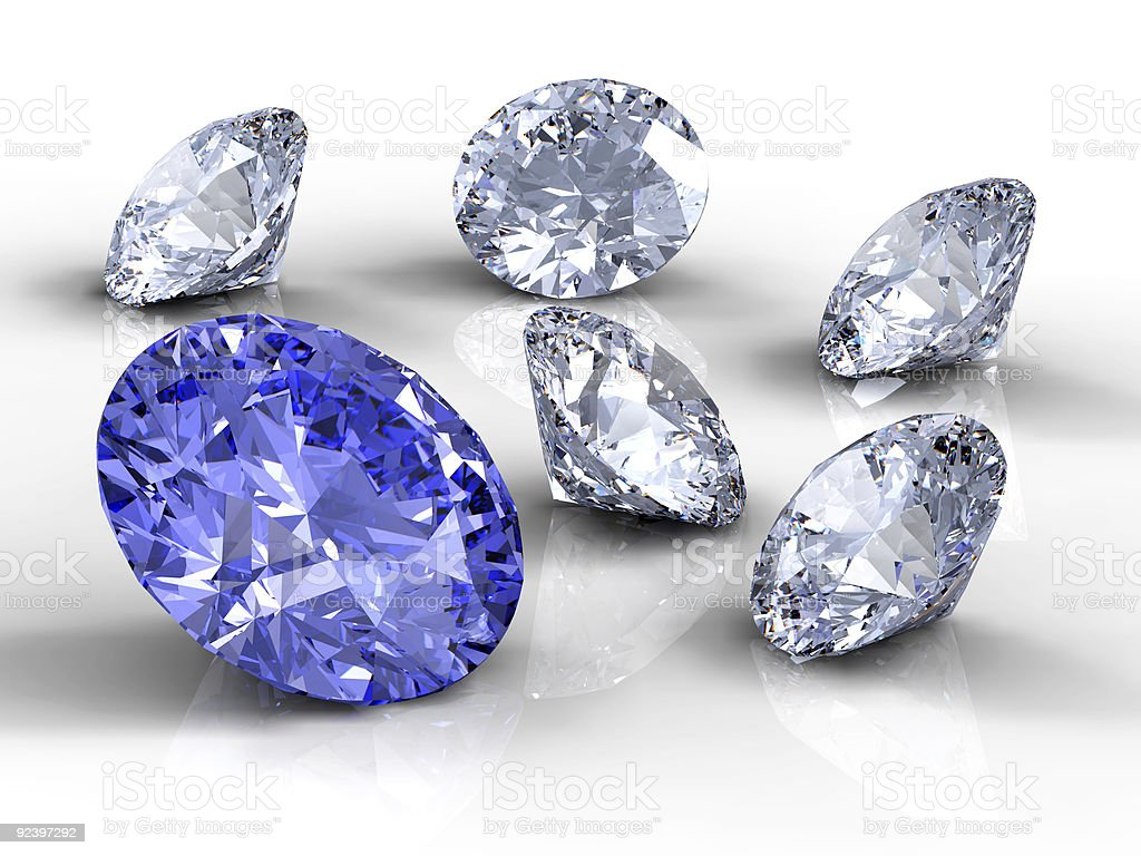 Six diamonds royalty-free stock photo