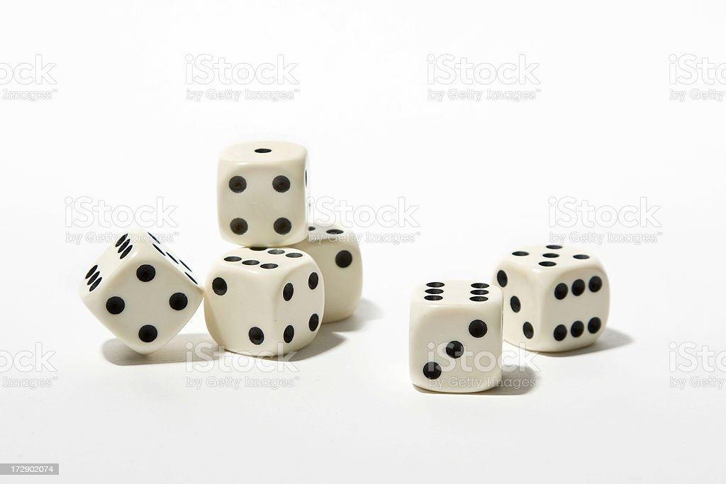 six dice stock photo