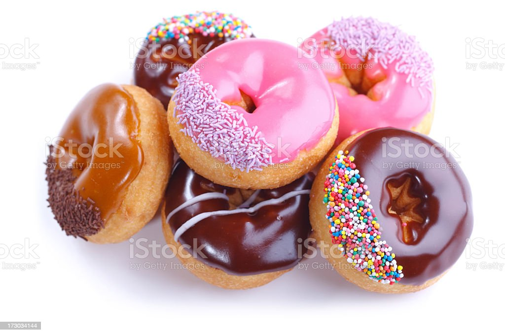 Six Donuts Isolated on White stock photo