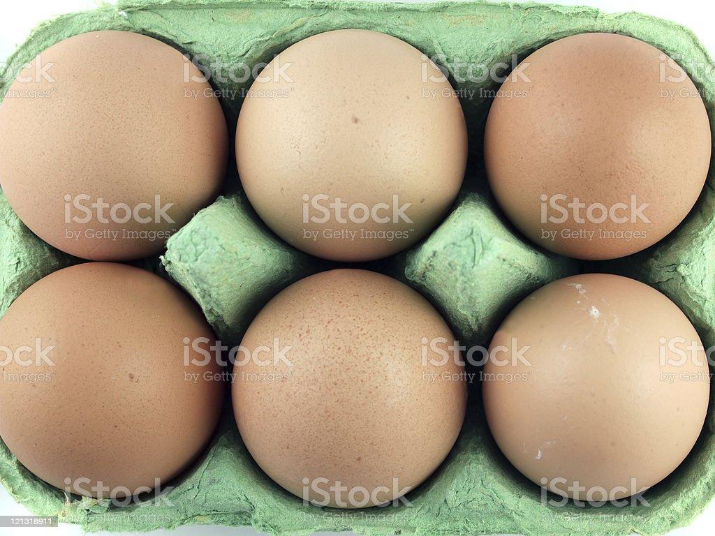 Six Eggs royalty-free stock photo