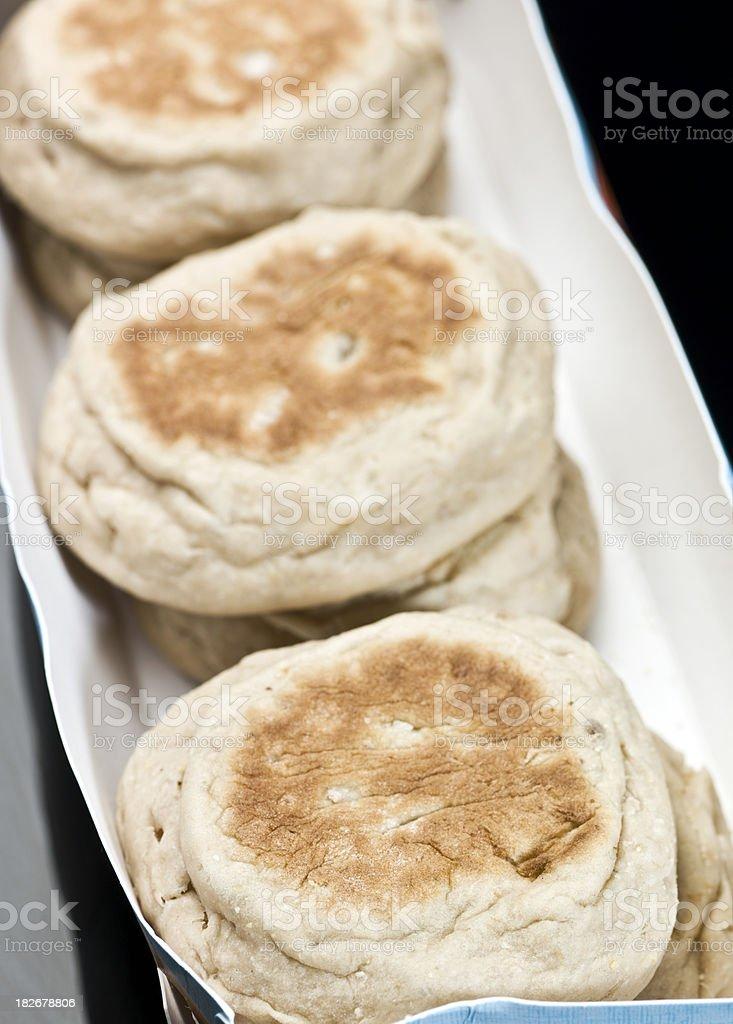 six english muffins royalty-free stock photo