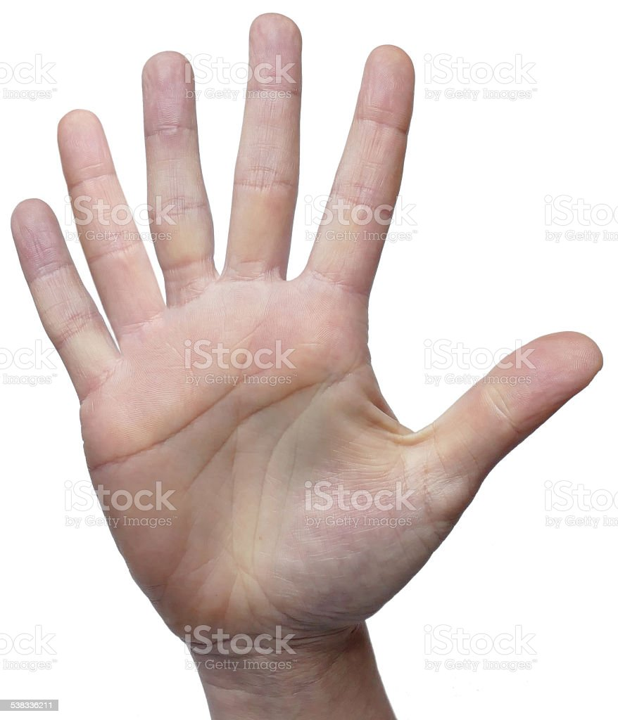 Six fingers 6 fingers on 1 hand stock photo