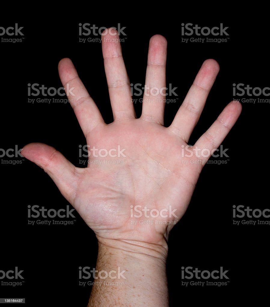 Six Fingers royalty-free stock photo