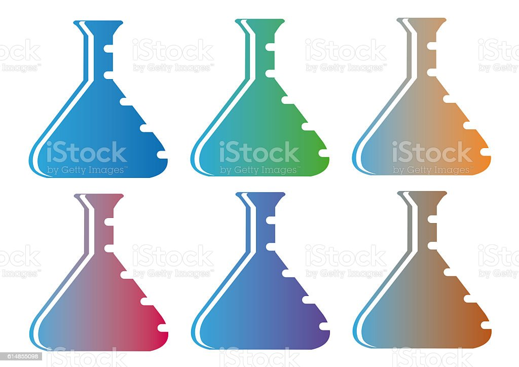 six flask stock photo