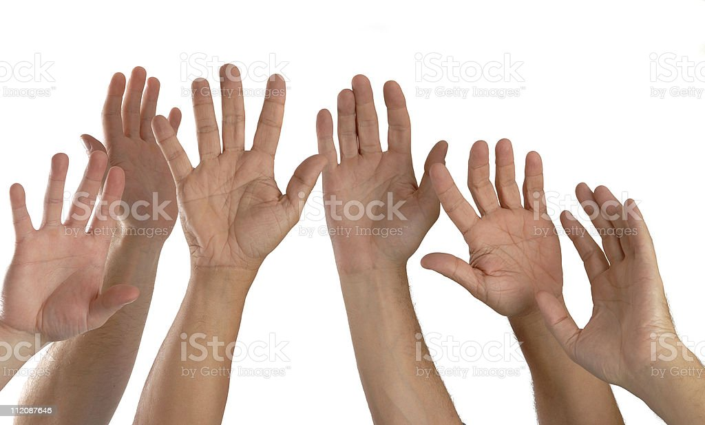 Six Hands royalty-free stock photo