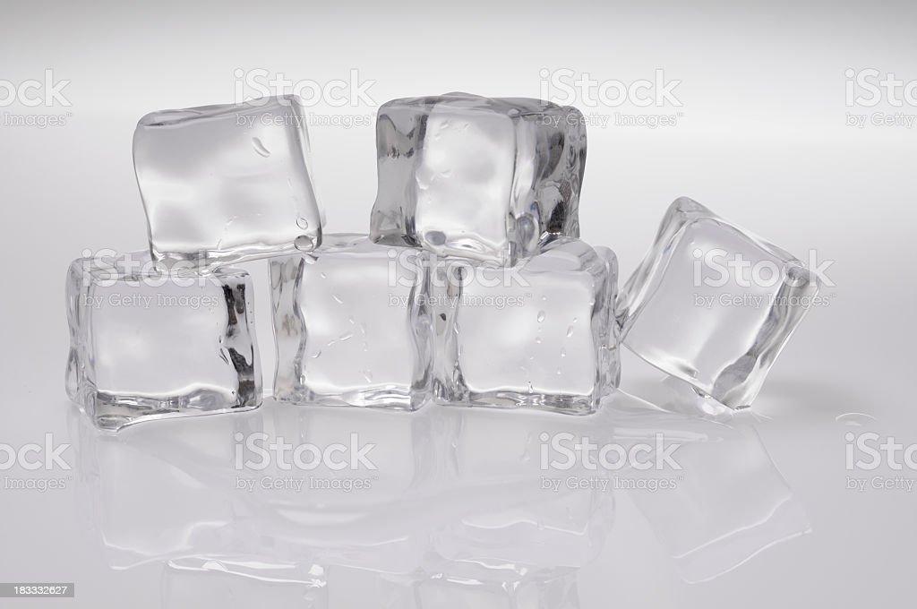 Six icecubes royalty-free stock photo