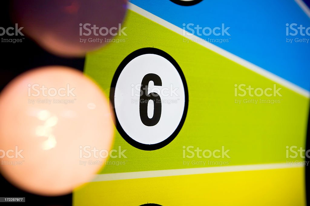six is my number royalty-free stock photo