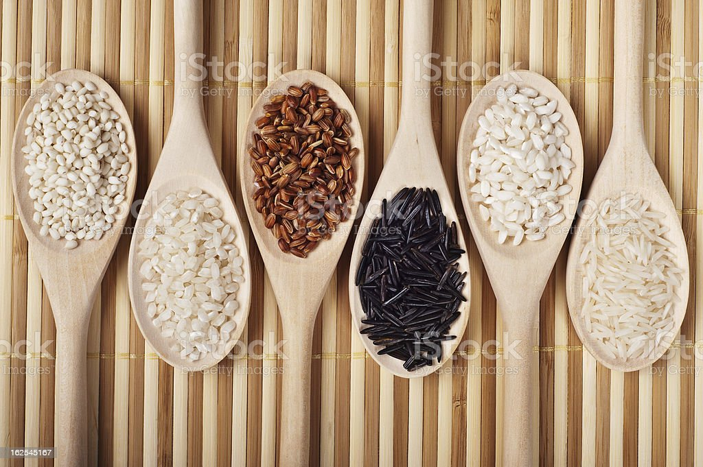 Six Kind Of Rice royalty-free stock photo