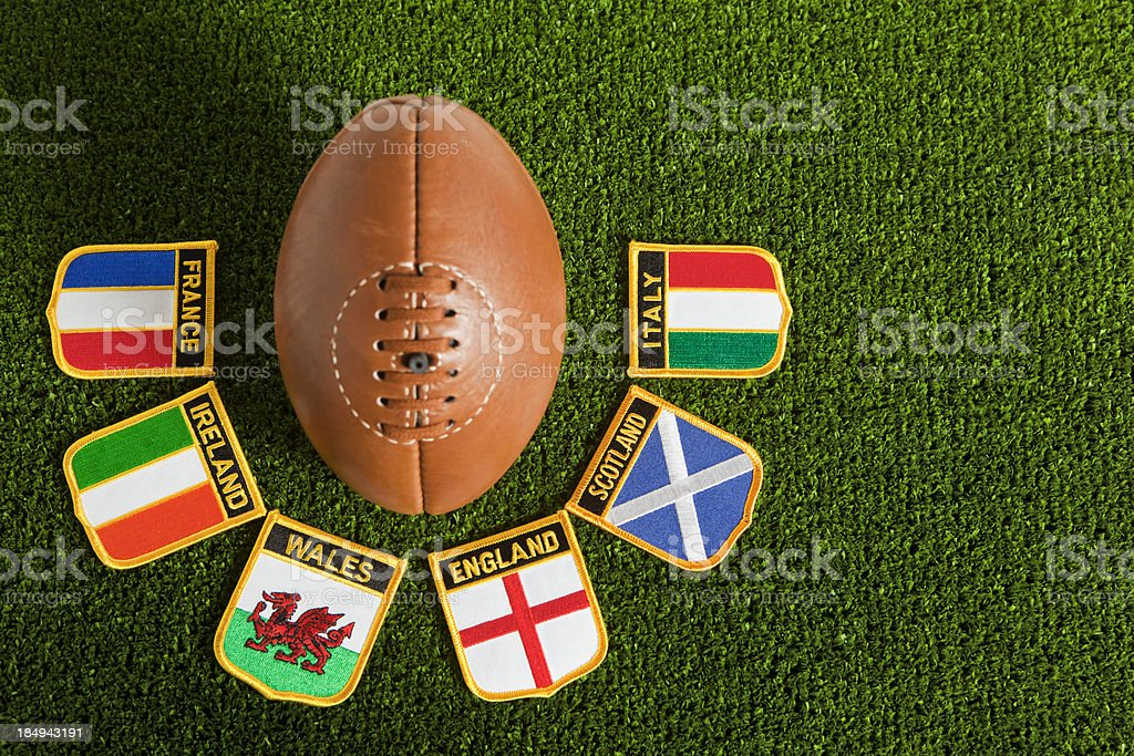 Six Nations Rugby royalty-free stock photo