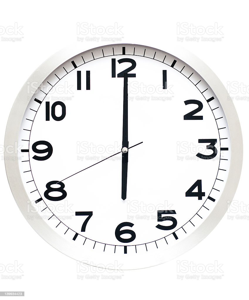 six o'clock stock photo