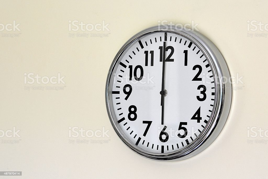 Six 'o'clock stock photo