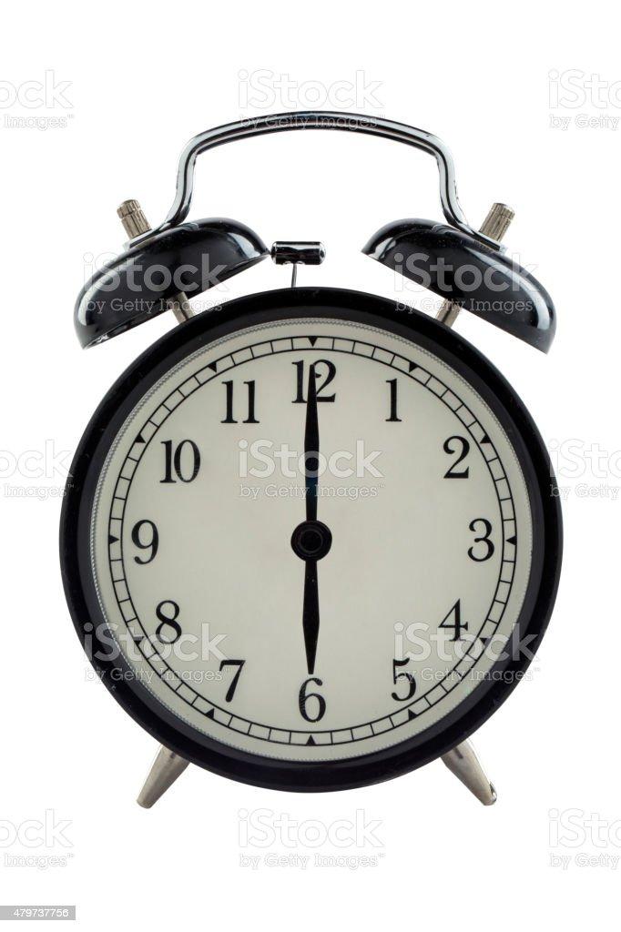 Six o'clock - Stock Image stock photo