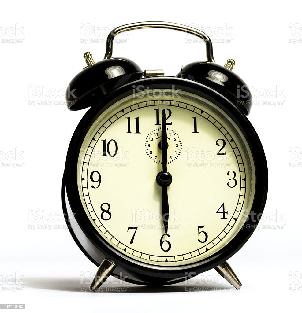 six o'clock, time to wake up stock photo