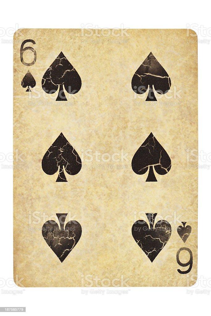 Six of spades stock photo