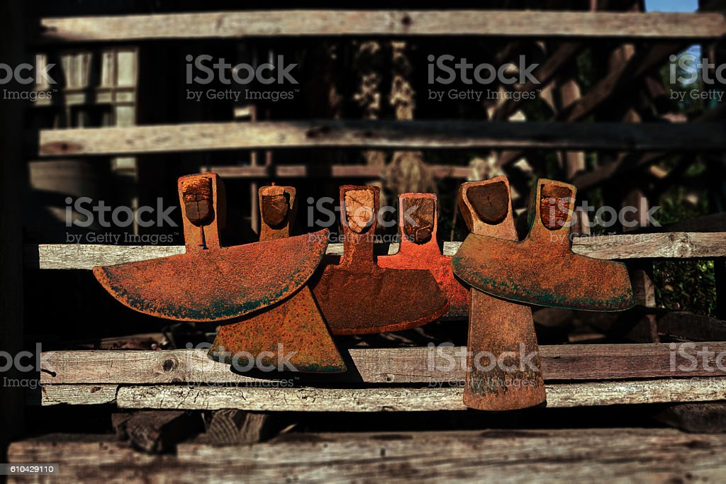 six old hoes royalty-free stock photo