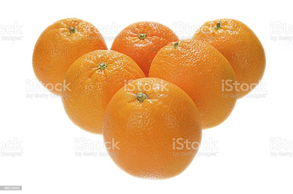 Six orange royalty-free stock photo